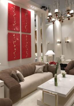 quadri moderni salone mobile